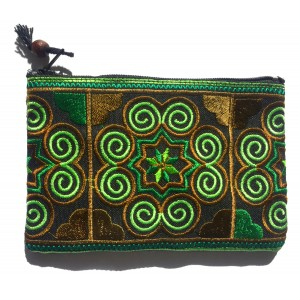 Hmong Thai Hill Tribe Spiral Tribal Purse - Fair Trade