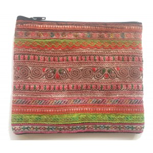 Hmong Lao Hill Tribe Beautiful Glittery Tribal Purse - Fair Trade