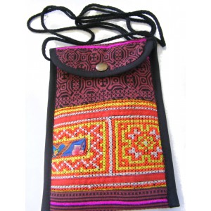 Akha Thai Hill Tribe Embroidered Tribal Bag - Fair Trade