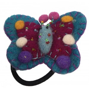 Hand Embellished Felt Butterfly Hair Accessory - Fair Trade