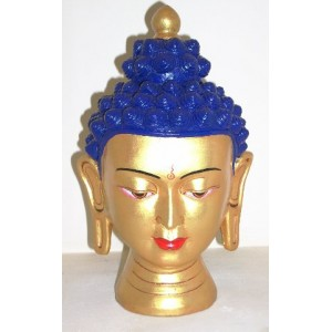 Fair Trade Hand Painted Ceramic Nepalese Buddha Head