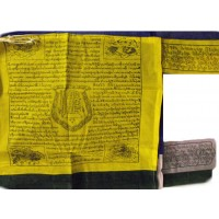 Genuine Large Vertical Flagstaff Tibetan Prayer Flags ( Windhorse ) - Fair Trade - Handmade by the Tibetan Buddhist community in Nepal