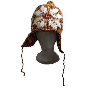 Genuine Fair Trade Handknitted Afghan Earflap Hat ( various colours)