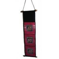 Thai Pink Sequined Elephant Letter Holder/ Banner - Fair Trade
