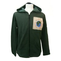 Fair Trade Green One World One Love One Planet Hoodie