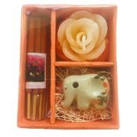Thai Tulip Incense, Candle & Burner Gift Set - Fair Trade