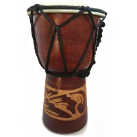 Authentic African Style 6 inch high Hand Carved Djembe Drum - Fair Trade