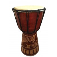 Authentic African Style 10 inch high Hand Carved Djembe Drum - Fair Trade