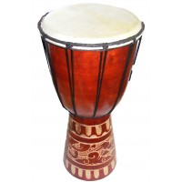Authentic African Style 16 inch high Hand Carved Djembe Drum - Fair Trade