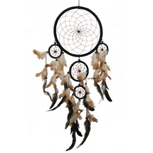 Beautiful Extra Large Black Native American Style Dreamcatcher - Fair Trade