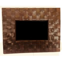 Large Handmade Natural Rattan Traditional Photo Frame 7 inch by 5 inch - Fair Trade