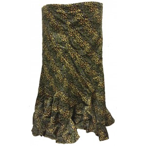 Fair Trade Fashionable Baby Cord Amelia Ruffle Skirt - Olive Floral Design
