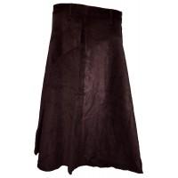 Fair Trade Fashionable Corduroy Annie Maxi Skirt - Chocolate Brown