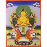 Genuine Original Tibetan Buddhist Thangka Painting -  White Tara, Goddess of Compassion - Fair Trade