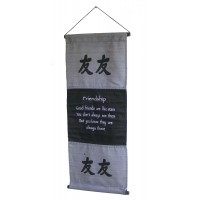 Grey Friendship Affirmation Wall Hanging / Banner